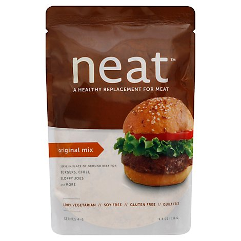 Neat Replacement For Meat Vegetarian Gluten Free Original Mix Pouch - 5.5 Oz