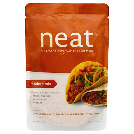 Neat Replacement For Meat Vegetarian Gluten Free Mexican Mix Pouch - 5.5 Oz