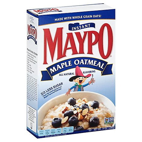Maypo Oatmeal Instant Maple - 14 Oz