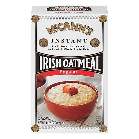 McCanns Oatmeal Irish Instant Regular 12 Count - 11.85 Oz