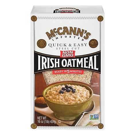 McCanns Oatmeal Irish Quick & Easy Steel Cut - 16 Oz