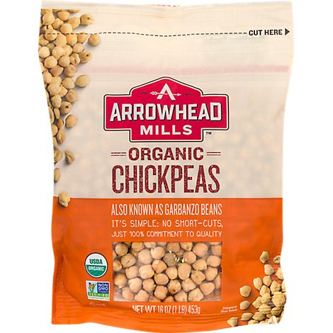 Arrowhead Mills Organic Bean Garbanzo - 16 Oz