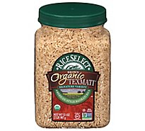 Rice Select Organic Texmati Rice Brown Long Grain American Basmati - 32 Oz