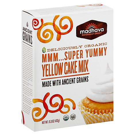 Madhava Cake Mix Mmm Super Yummy Yellow - 15.3 Oz