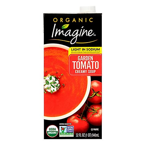 Imagine Organic Soup Creamy Garden Tomato Light In Sodium - 32 Fl. Oz.
