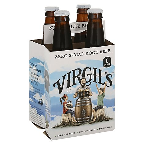 Virgils Soda Root Beer Zero - 4-12 Fl. Oz.