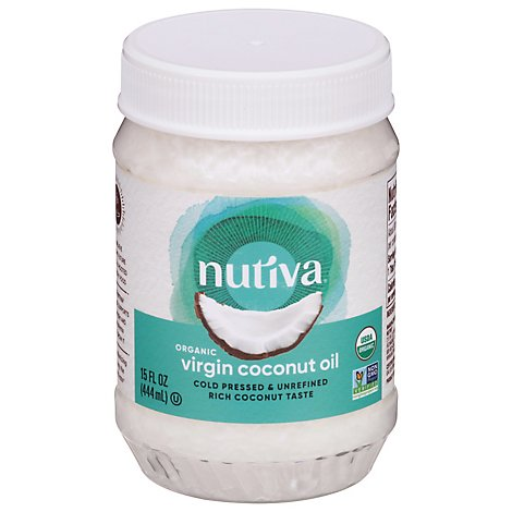 Nutiva Organic Superfood Coconnut Oil Virgin Jar - 15 Fl. Oz.