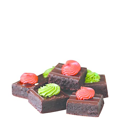 Bakery Brownie Gourmet Square Platter Decorated - Each