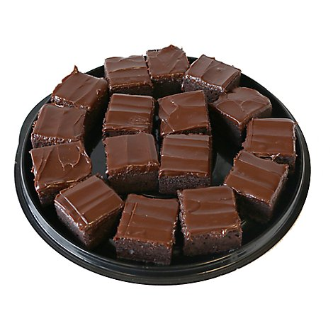 Bakery Brownie Gourmet Square Platter - Each