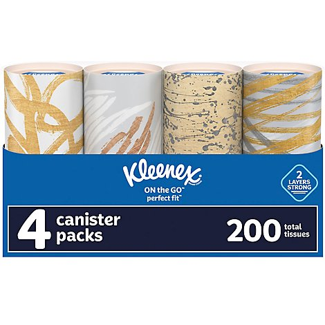 Kleenex Facial Tissue 2-Ply White Perfect Fit Pack - 4 Count