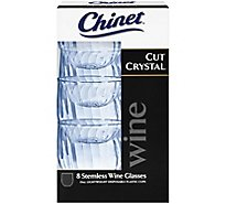 Chinet Stemless Wine Glass Cut Crystal - 8 Count