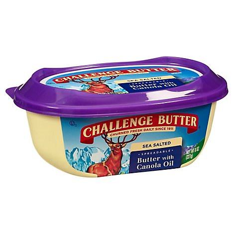Challenge Butter Spreadable With Canola Oil - 8 Oz