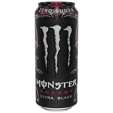 Monster Energy Drink Zero Sugar Ultra Black - 16 Fl. Oz.