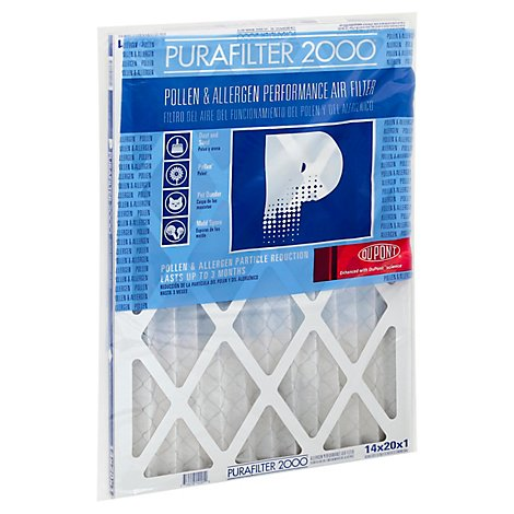 PuraFilter 2000 Air Filter Performance Pollen & Allergen 14 x 20 x 1 - Each
