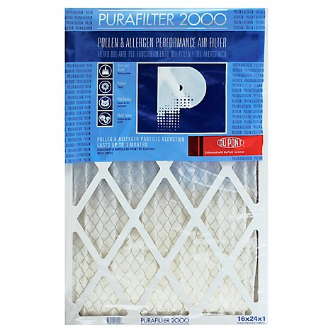 PuraFilter 2000 Air Filter Performance Pollen & Allergen 16 x 24 x 1 - Each