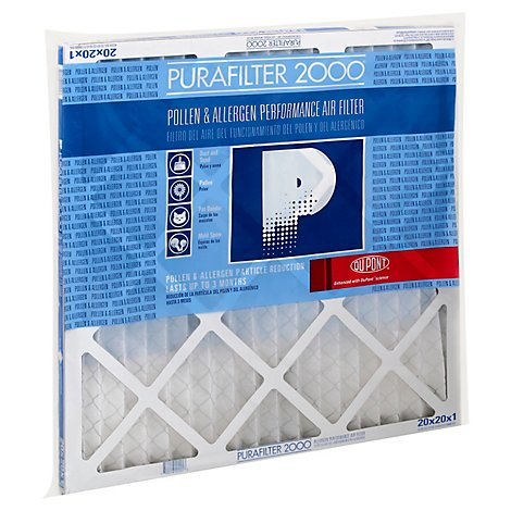 PuraFilter 2000 Air Filter Merv 8 Pollen & Allergen 20 x 20 x 1 - Each