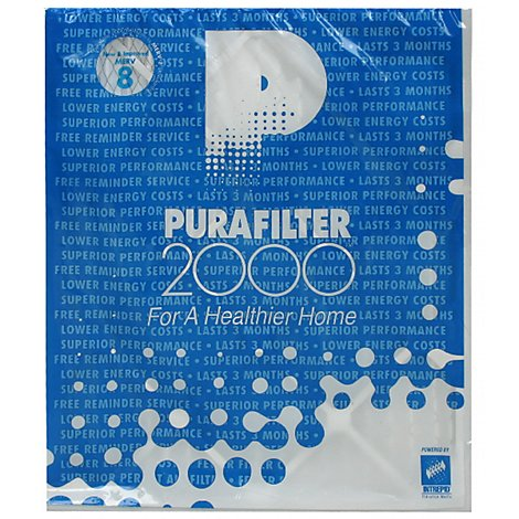 Purafilter 2000 Air Filter Merv 8 20 x 24 x 1 Inch - Each
