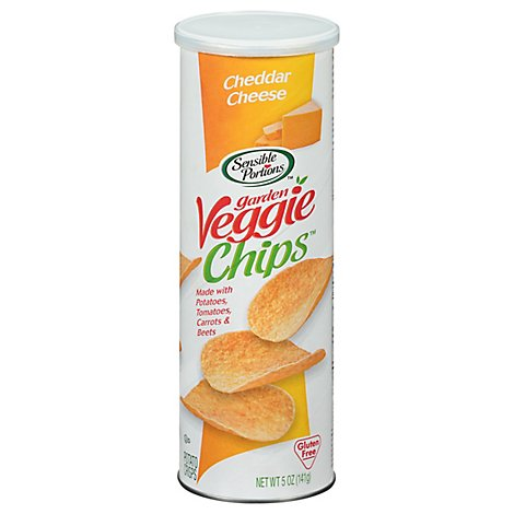 Sensible Portions Garden Veggie Chips Cheddar Cheese - 5 Oz