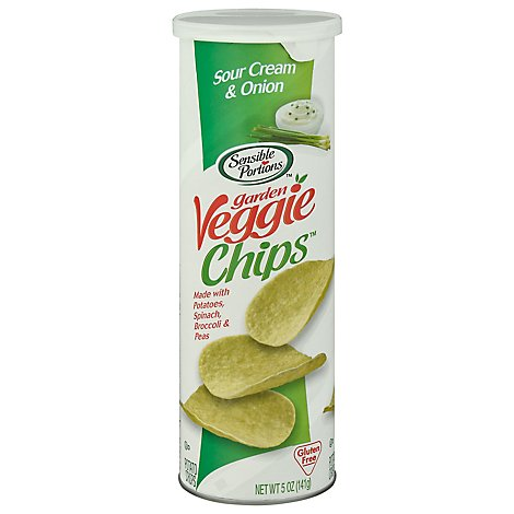 Sensible Portions Garden Veggie Chips Sour Cream & Onion - 5 Oz