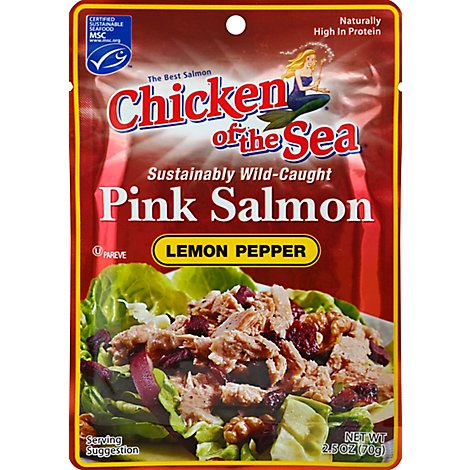 Chicken of the Sea Salmon Pink Premium Wild-Caught Lemon Pepper - 2.5 Oz
