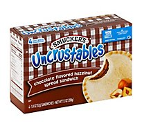 Smuckers Uncrustables Sandwich Chocolate Flavored Hazelnut Spread 4 Count - 7.2 Oz