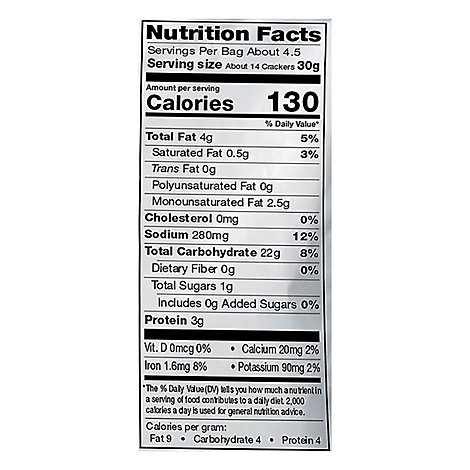 Miltons Crackers Baked Gluten Free Chedder Cheese - 4.5 Oz