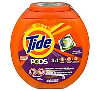 Tide PODS Liquid Laundry Detergent Pacs Spring Meadow - 72 Count