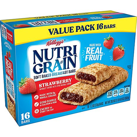 Nutri-Grain Soft Baked Breakfast Bars Strawberry - 16-1.3 Oz