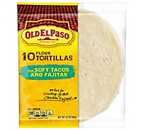 Old El Paso Tortillas Flour For Soft Tacos & Fajitas Wrapper - 10 Count