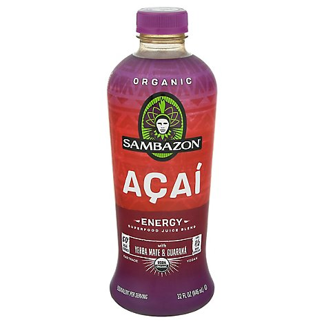 Sambazon Juice Blend Organic Superfood Energy Acai - 32 Fl. Oz.