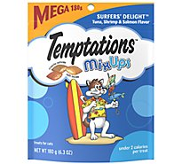 TEMPTATIONS MixUps Cat Treats Crunchy And Soft Surfers Delight Flavor - 6.3 Oz