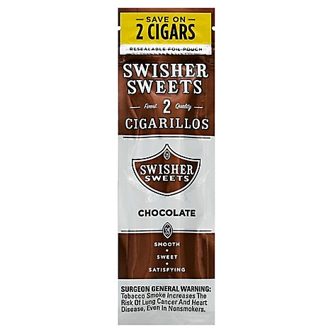 Swisher Sweets Cigarillos Chocolate - 2 Package