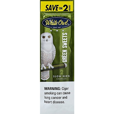 White Owl Green Sweet Cigarillo Save On 2 - 2 Package