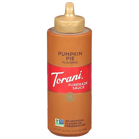 Torani Sauce Authentic Coffeehouse Flavor Pumpkin Pie - 16.5 Oz