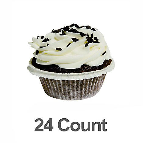 Bakery Cupcake Chocolate With Vanilla Whip 24 Count - Each