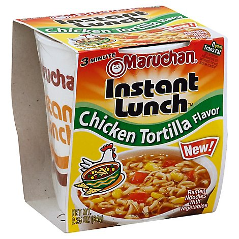 Maruchan Instant Lunch Ramen Noodle Soup Chicken Tortilla Flavor - 2.25 Oz