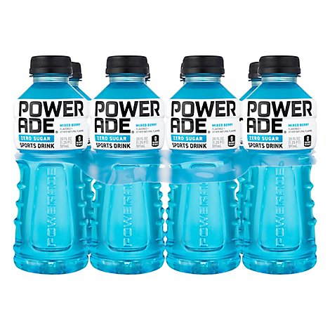 POWERADE Sports Drink Zero Sugar Mixed Berry - 8-20 Fl. Oz.