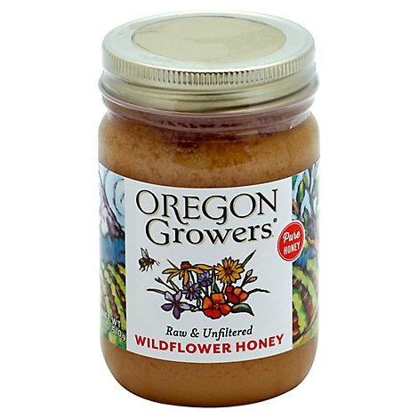 Oregon Growers Honey Wildflower - 18 Oz