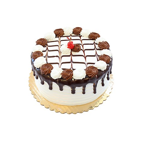 Bakery Cake Marble 2 Layer 8 Inch With Whipped Icing - Each