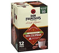 Don Franciscos Coffee Family Reserve Coffee Single Serve Medium Decaf Colombian - 12-0.33 Oz