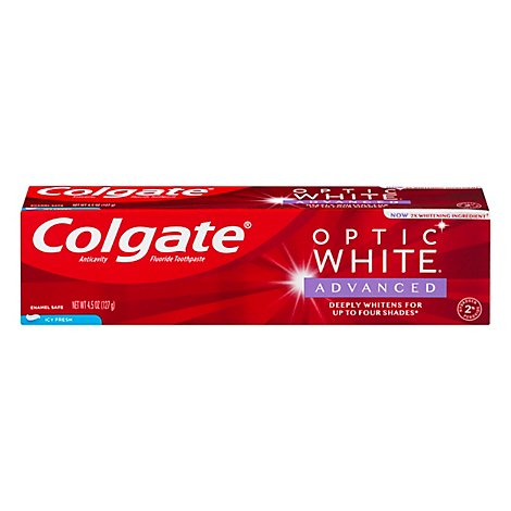 Colgate Optic White Toothpaste Anticavity Fluoride Icy Fresh - 5 Oz