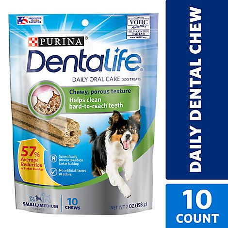 Dentalife Dog Treats Daily Oral Care Small To Medium Breed 10 Count - 7 Oz