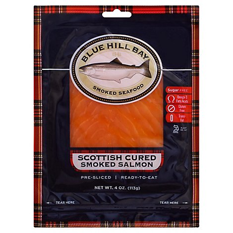 Blue Hill Bay Salmon Smoked Scottish - 4 Oz