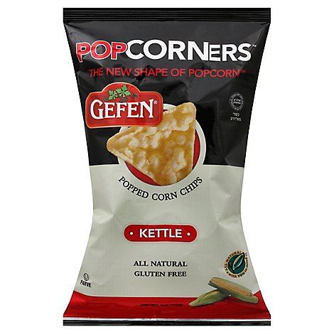 Gefen PopCorners Corn Chips Popped Kettle - 5 Oz