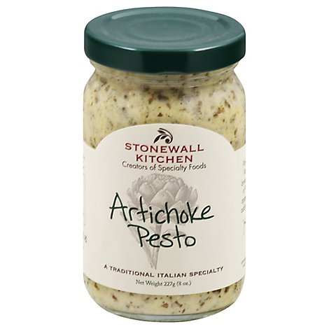 Stonewall Kitchen Pesto Sauce Artichoke Jar 8 Oz Pavilions