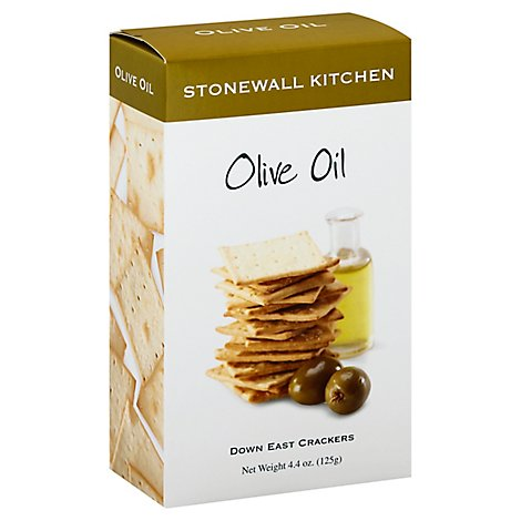 Stonewall Kitchen Crackers Down East Olive Oil - 4.4 Oz