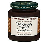 Stonewall Kitchen Sauce Dark Chocolate Sea Salt Caramel - 12.5 Oz