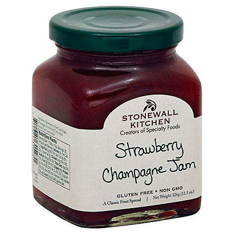 Stonewall Kitchen Jam Strawberry Champagne - 11.5 Oz