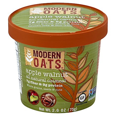 Modern Oats Oatmeal Apple Walnut - 2.6 Oz