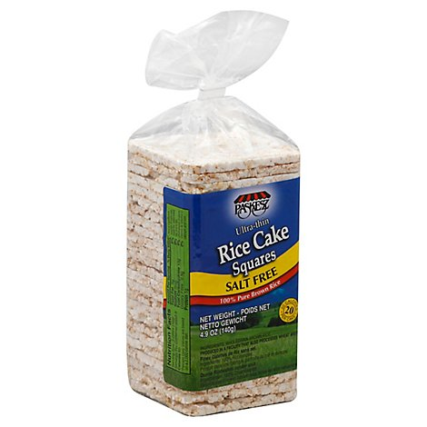 Paskesz Rice Cake Squares Ultra-Thin Salt Free - 4.9 Oz